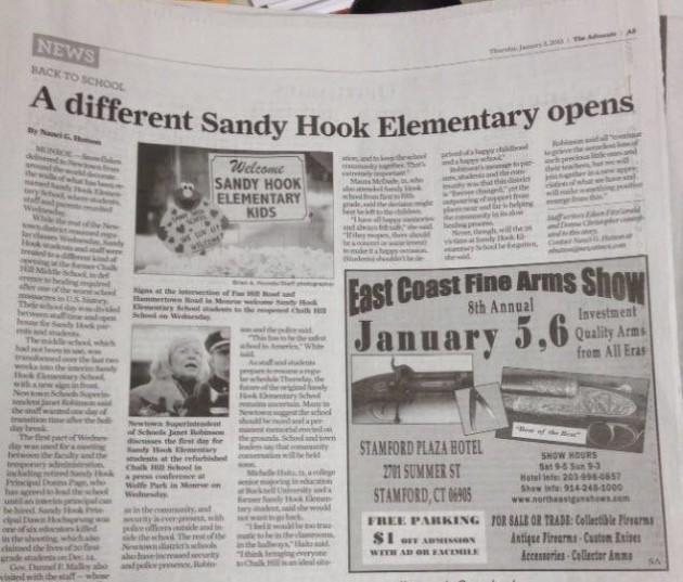 Sandy Hook Gun Show Ad