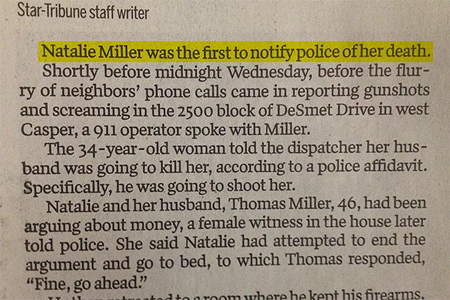 Natalie Miller, Casper Star-Tribune