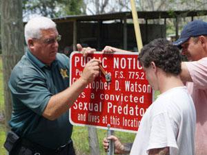 Bradford County Sheriffs Install a Sign
